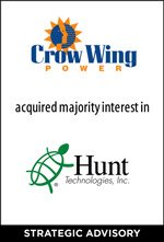 Crow Wing Power acquired majority interest in Hunt Technologies